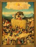 Hieronymous Bosch: Heinävankkurit-triptyykin (1516) keskipaneeli