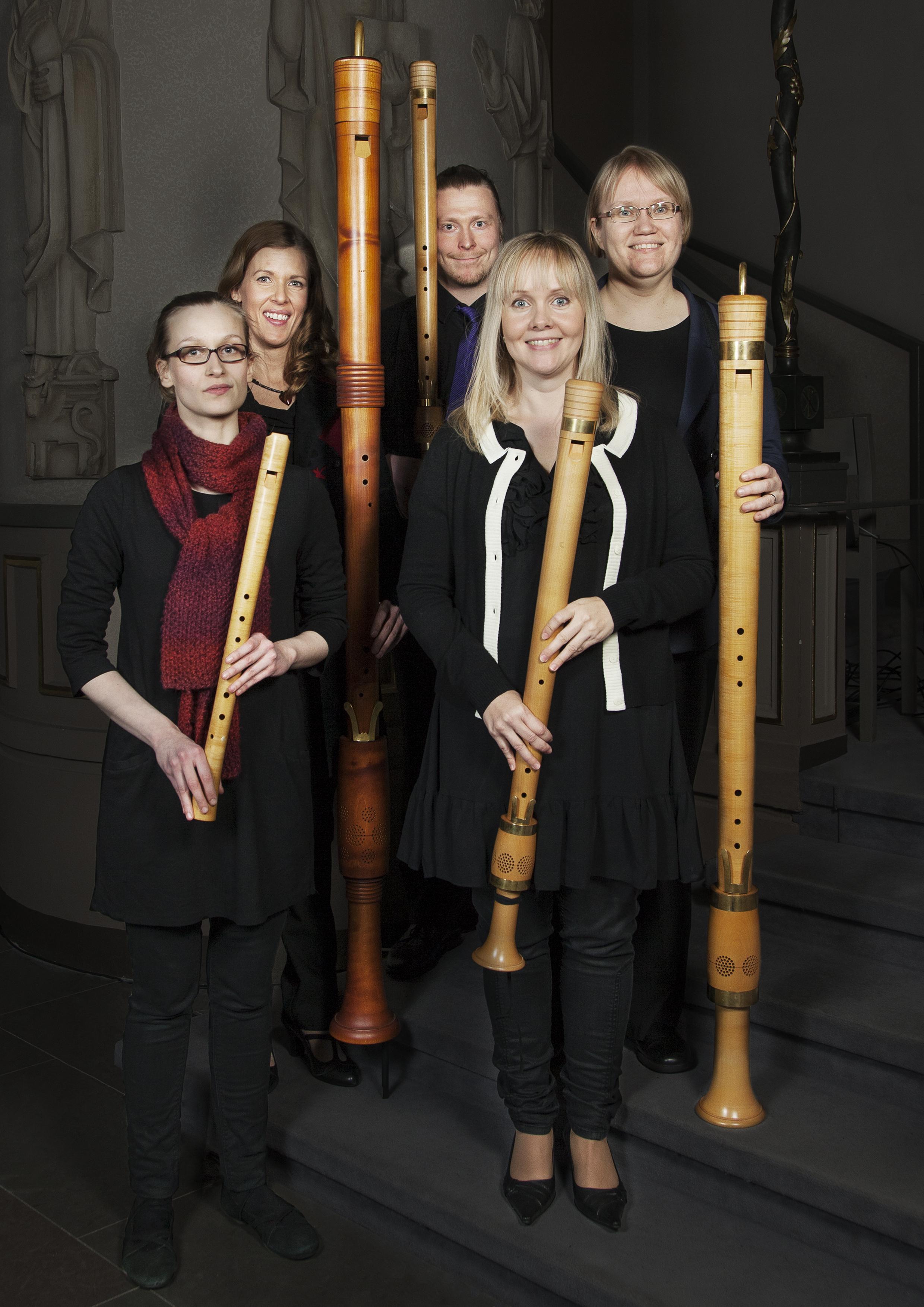 Nokkahuiluyhtye Q Consort Aurore – Renessanssimusiikkijuhlilla tammikuussa 2014. Kuva © Aurore / Noora Lehtovuori.